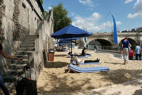Paris summer beach