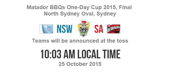 #NewSouthWales  Vs #SouthAustralia  Final One Day Live #Cricket  Match Score Result Channel