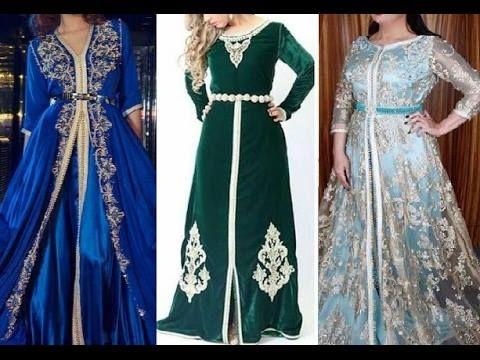قفطان مغربي Caftan Marocain 2021 طريقة لبس القفطان المغربي Caftan Luxe Pour Jeune Fille Formal Dresses Long Dresses Formal Dresses