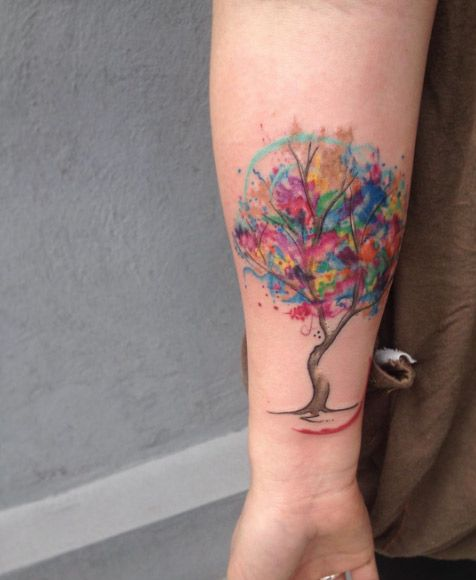 Vibrant Watercolor Tree by Analisbet Luna Fegan