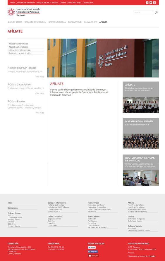 Página Afíliate | www.imcptabasco.org.mx