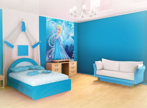 Wall Murals Wallpaper Coverings Decorations Non Woven Home Art Elsa Frozen 840VE | eBay