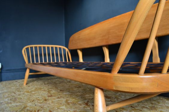 Sorry. SOLD. Blonde Ercol Studio Couch / Daybed by EtchInteriors