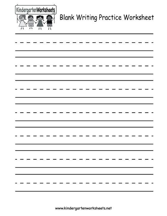 Number Names Worksheets » Blank Handwriting Worksheets For ...