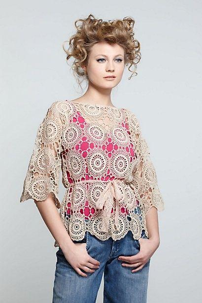 Crochet. Crochet. Crochet.: Blusas Crochet, Crochet Blouse, Cute Tops, Crochet Crochet, Crochet Lace Top, Crochet Tops, Summer Top