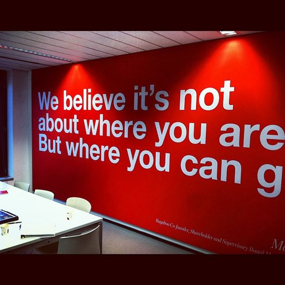 we believe it's not about where you are but where you can go