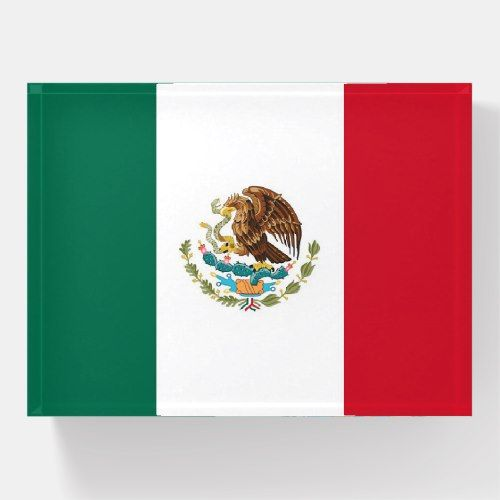 Paperweight With Flag Of Mexico Zazzle Com Mexican Flags Mexico Flag Mexico