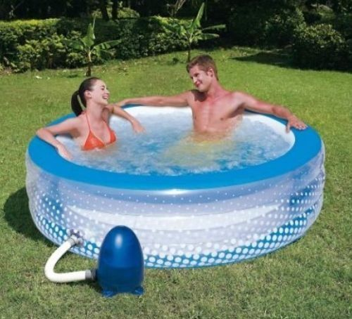 Piscine A Bulles Gonflable Pompe A Air Electrique Jacuzzi Spa Jardin Exterieur Ou Interieur Piscine Piscine Gonflable Intex Piscine Gonflable