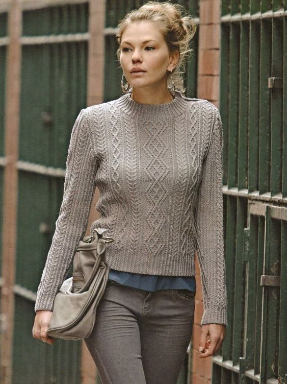 Knitting Pattern For Ladies Cable Sweater : Rowan designer knits by sarah hatton martin storey