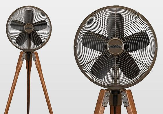 Arden Fan  Sometimes you just can't beat the heat. Summer is here and there's no better way to relax on a hot afternoon than with coldish air. The Arden Fan is designed to fit perfectly in any home, whether it be the most contemporary loft in town or the most vintage of interiors. It's got a beautiful walnut finish and a 50 degree oscillation to subtly remind you that an air conditioning unit will never look this cool.