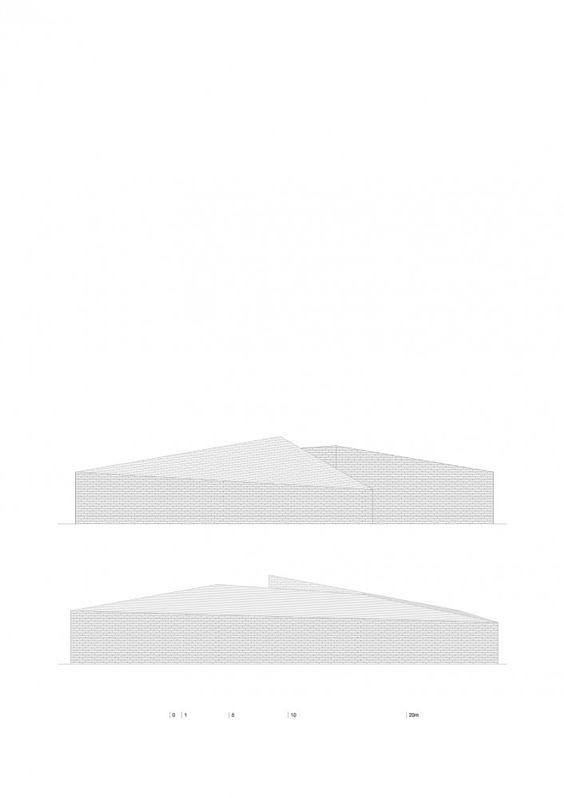 Building in Lagoa das Furnas / Aires Mateus -  elevations detailed