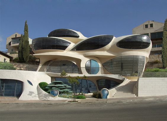 free-shaped home   futuristic architecture of israel   new trend eco-friendly house   zen architecture  bio-house   organic architecture  ferrocement concrete shells   voile de beton  zero-emission solar powered hydrogen fuel-cell   pv-cells   biomorphic curve How To Get Free Electricity Go Green Thank Me Later   http://hbb6.com/Green1: