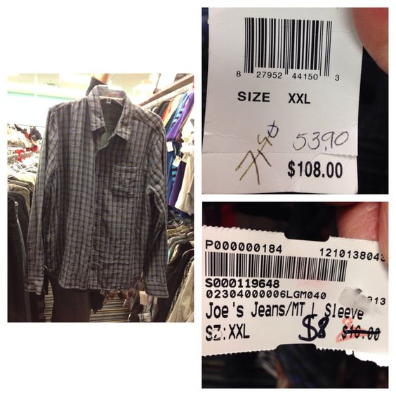 This shirt was originally $108 and were selling it for only $8!