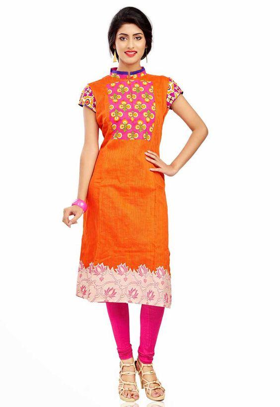 latest girls fashionable kurtis designs 20152