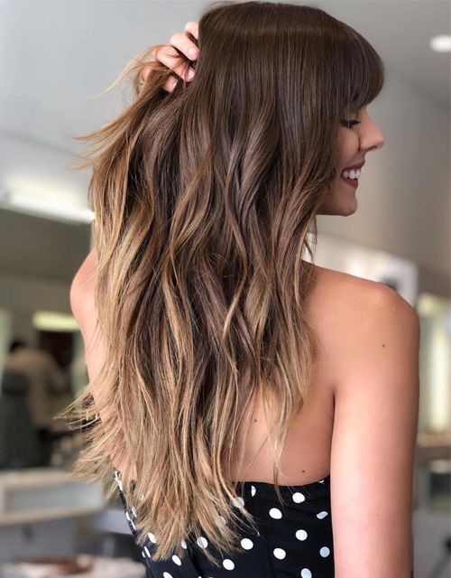 Most Popular Hairstyles 2021 Sophisticated New Hairstyle Ideas Hairstyles Charm In 2020 Layered Hair With Bangs Long Layered Haircuts Long Hair Trends