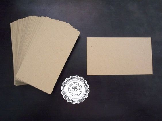 Chip board business cards rounded edges available business kraft bulk sale brown paper tags kraft business card blank mini notes kraft black white brown labels rectangular notes in cardstock reheart Gallery
