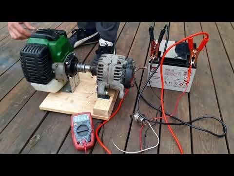 How To Make Weedeater 12v Generator New Project Alternator Agregat Pradotworczy Amazing Life Hacks You 12v Generator Electronics Projects Diy Diy Generator