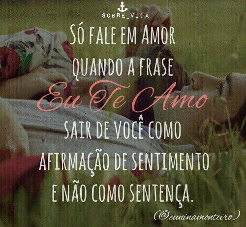 """Sobre """"Eu Te Amo""""...♡♥"""