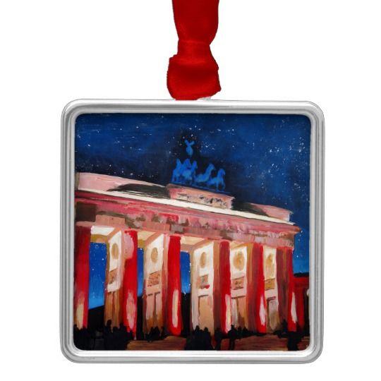 Brandenburger Tor Berlins Mit Paris Platz An Nah Silbernes Ornament Gemalte Ornamente Ornamente Wandschmuck