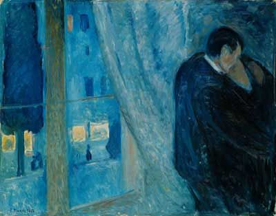 Edvard Munch. Kiss by the Window, 1892