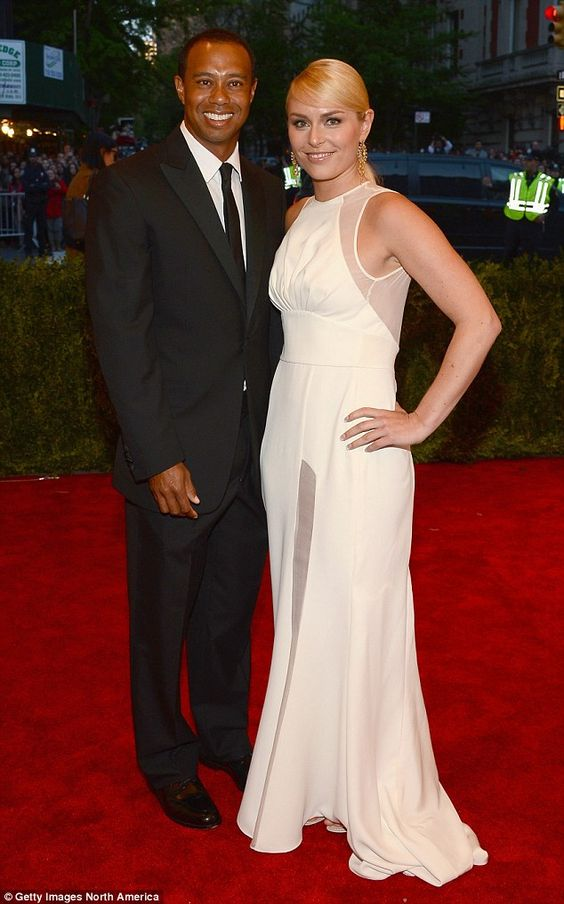 Split: Elin's ex-husband Tiger Woods dated Olympian Lindsey Vonn for three years, before they ended thing last year