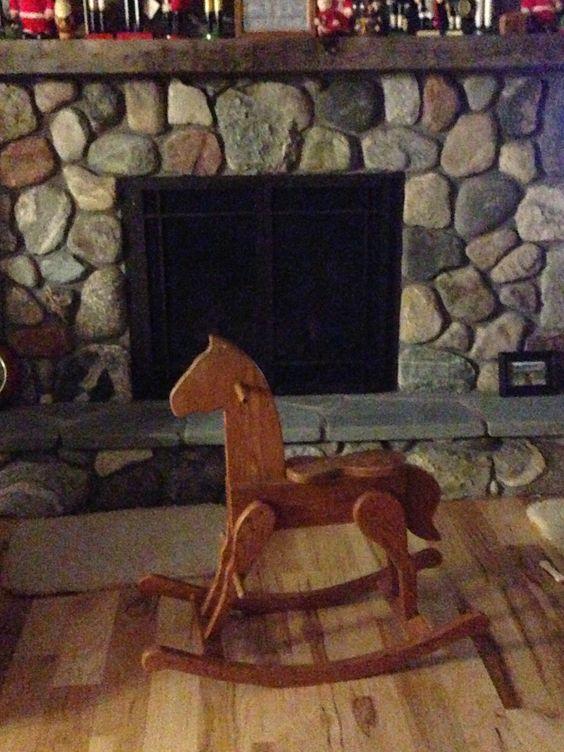 Rocking horse made of 5/4 oak