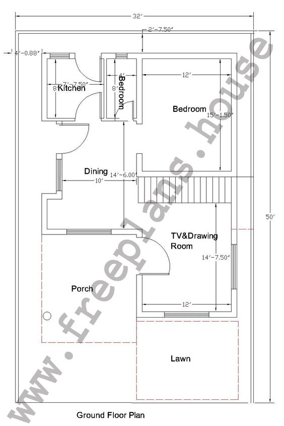 50 meters to feet 32 215 50 feet 148 square meters house for House plan search engine