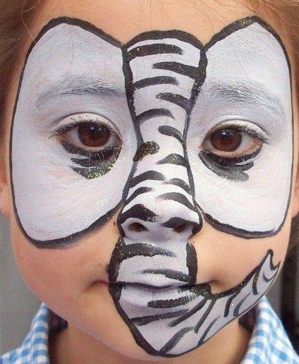 elephant face paint kinder schminken pinterest. Black Bedroom Furniture Sets. Home Design Ideas
