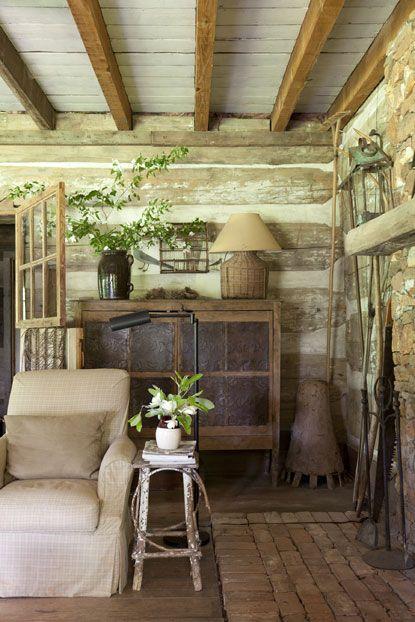Photos cabin fever garden and gun floors pinterest for Log cabin gunsmithing