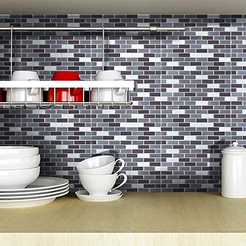 Feccile Home Wall Sticker Tiles Mosaic 10 Inch X 10 Inch Backsplash Tiles For Bathrooms A Kitchen Wall Tiles Wall Stickers Tiles Mosaic Tile Backsplash Kitchen
