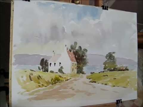 ▶ painting a loose cottage with alan owen - YouTube