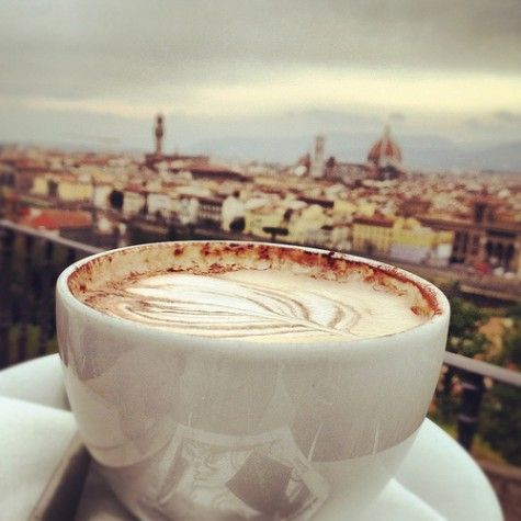When in Rome, enjoy a Cappuccino served in a porcelain cup!