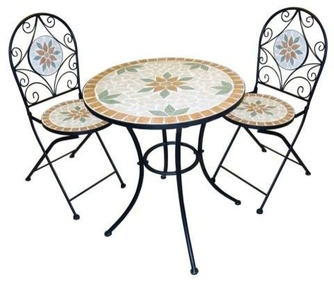 Mosaik Bistro Set Outdoor Tisch Und Stuhle Terrassen Deko Und