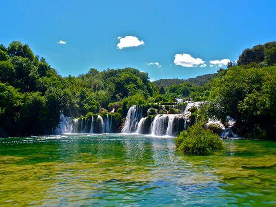 حديقة كركا الوطنية كرواتيا العقل السليم Outdoor Waterfall Places