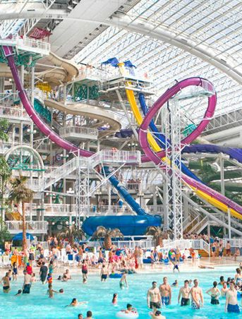 The 20 Most Amazing Water Slides And Parks In The World features one at West Edmonton Mall