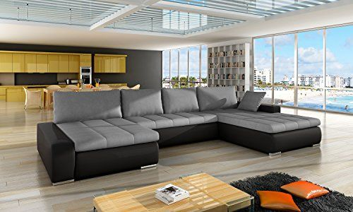 Simone European Sectional Sleeper Pull Out Sofa Bed Water Repellent Fabric Modern Design Gray Furniture Luxury Sofa Bed Sofa