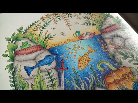 Coloring The Duck Pond In Enchanted Forest By Johanna Basford Youtube Johanna Basford Coloring Book Joanna Basford Enchanted Forest Basford Coloring