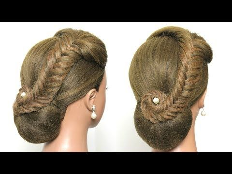 Easy Wedding Updo With Braid Prom Hairstyles Hair Tutorial Youtube Hair Styles Hair Tutorial Long Hair Styles