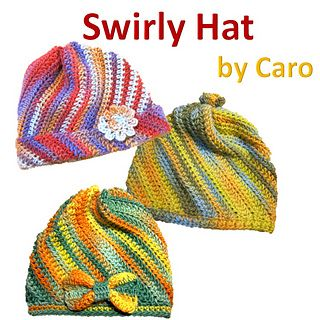 Swirly Hat - Free crochet pattern in English and Japanese ...