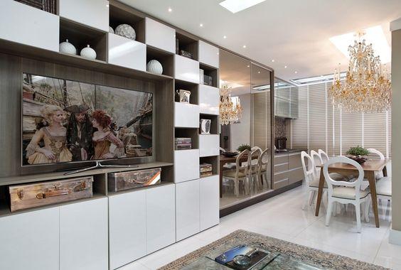 A nova cozinha faz parte da sala
