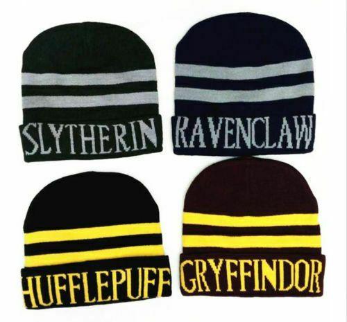Harry Potter Scarf Tie Gloves Beanie Hat Robe Costume Set Gryffindor Ravenclaw