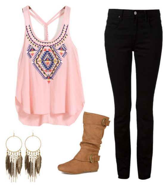 """""""tori vega outfit"""" by alexisrom on Polyvore featuring T By Alexander Wang, Journee Collection and Panacea"""