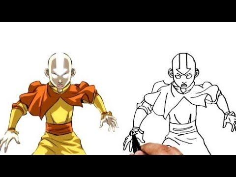 رسم الافاتار انج من كرتون افاتار أسطورة انج للمبتدئين How To Draw Aang Avatar For Beginners Youtube In 2021 Easy Drawings Drawings Humanoid Sketch