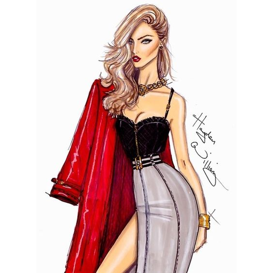 fashion sketch | Tumblr via Polyvore | Style File ...