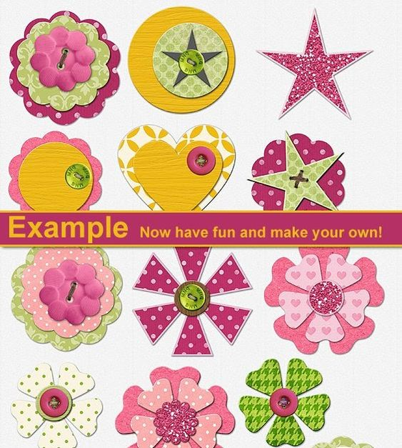 ♥ Miss Cutiepie Inspiration - Freebies & Inspiration ♥: :: Hybrid - Make your own embellishments! ::