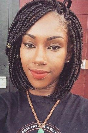 Amazing Box Braids Box Braids Hairstyles And Braid Hairstyles On Pinterest Short Hairstyles For Black Women Fulllsitofus