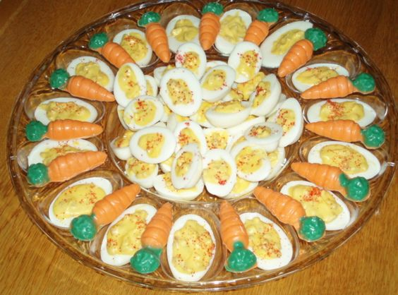 Not deviled eggs...but candy to appear like deviled eggs.  Looks like a fun candy!