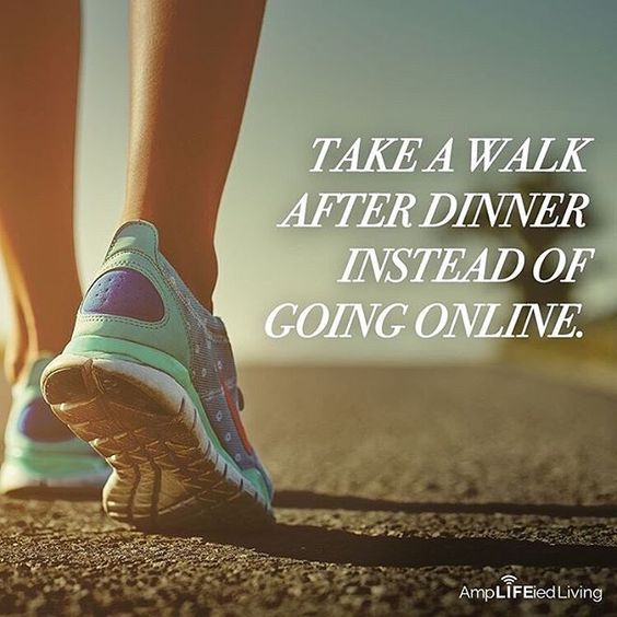 Get the good habits going...a post dinner walk aids digestion as well as providing a fitness boost. #maximizinghealth #inspiringlife #getoutside #healthhabits