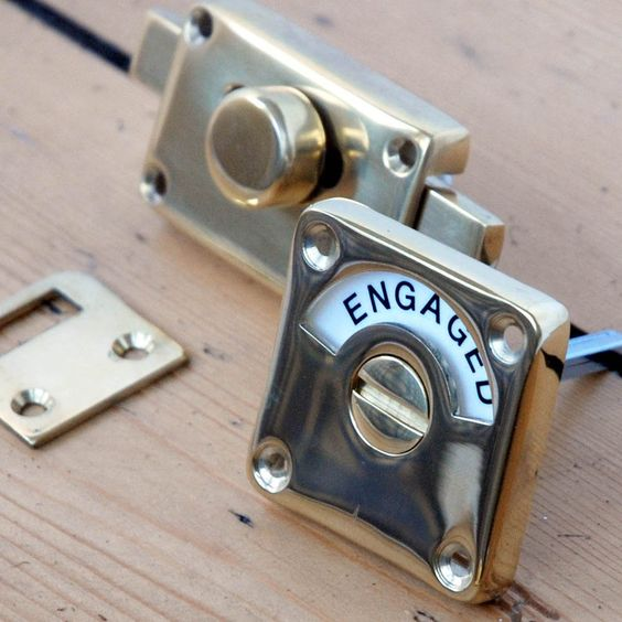 Brass Vacant Engaged Lock Miscellaneous Pinterest