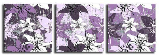 Xl61_43536159_l / Cuadro Flores Vintage lila